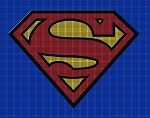 Superman Logo Baby Afghan Crochet Pattern