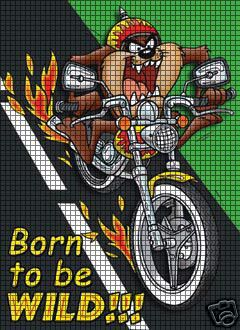 Motorcycle Taz Crochet Pattern
