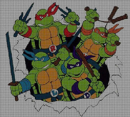 Ravelry: Teenage Mutant Ninja Turtle pattern by Nichole's Nerdy Knots | 404x450