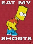 Bart Eat My Shorts Crochet Pattern