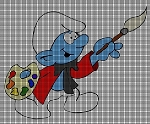 Painter Smurf Crochet Pattern