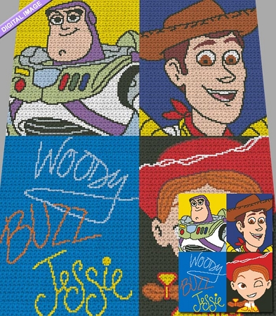 Toy Story Collage Crochet Pattern