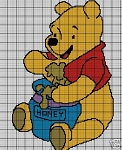 Pooh Eats Honey Crochet Pattern