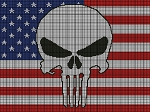 Punisher Flag Crochet Pattern