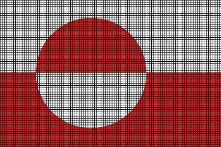 Greenland Flag Crochet Pattern