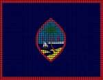 Guam Flag Crochet Pattern