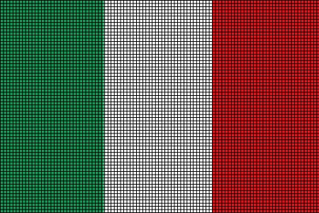 Italy Flag Crochet Pattern