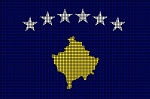 Kosovo Flag Crochet Pattern