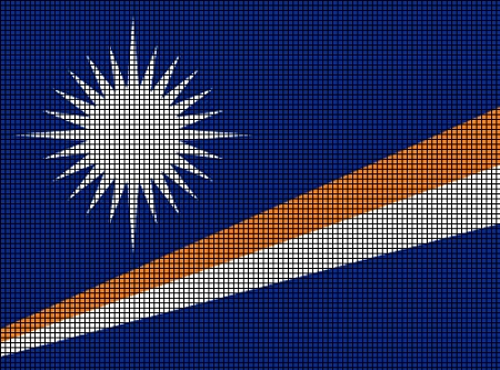 Marshall Islands Flag Crochet Pattern