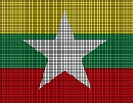 Myanmar Flag Crochet Pattern