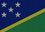 Solomon Islands Flag Crochet Pattern