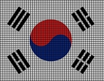 South Korea Flag Crochet Pattern