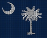 South Carolina State Flag Crochet Pattern
