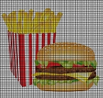 Hamburger & Fries Crochet Pattern
