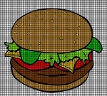 Hamburger Crochet Pattern