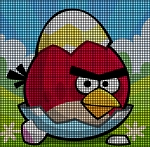 Angry Bird Cracked Crochet Pattern