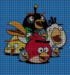 Angry Birds Group Crochet Pattern