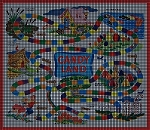 Original 1955 Candy Land Game Board Crochet Pattern