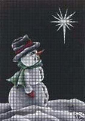 Black Snowman Crochet Pattern