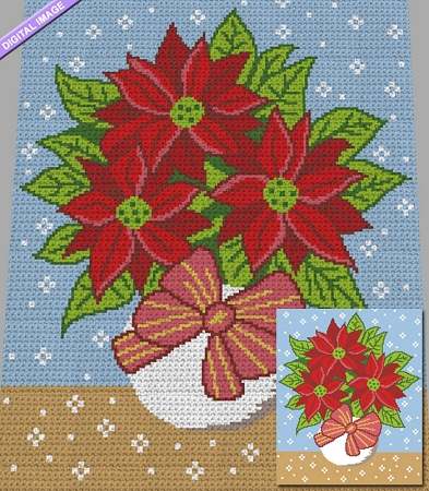 Christmas Flowers Graph Pattern