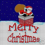 Santa Down The Chimney Crochet Pattern