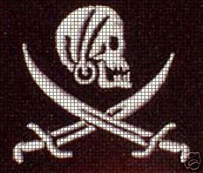 Pirate Skull & Bones Crochet Pattern