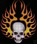 Skeleton Flames Crochet Pattern