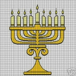 Menorah Crochet Pattern