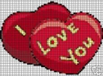 I Love You Hearts Crochet Pattern