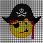 Pirate Smiley Face Crochet Pattern