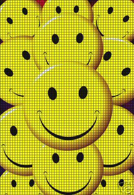 Smiling Faces Collage Crochet Pattern