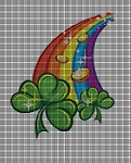 Rainbows and Clovers Crochet Pattern