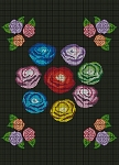 Colorful Roses Crochet Pattern