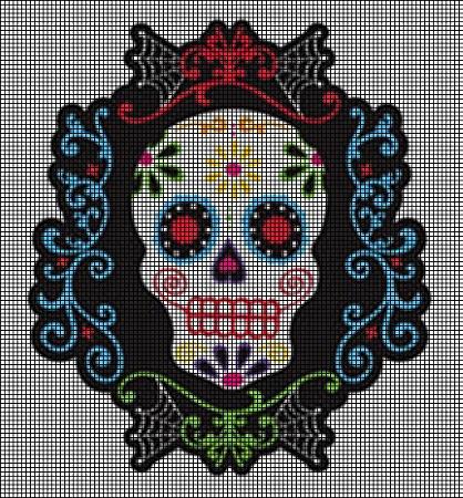 Crochet Pattern Round-Up: Sugar Skull Designs – Crochetville | 450x418