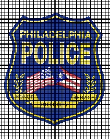 Philadelphia Police Flag Badge Crochet Pattern