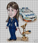 Police Woman With Car Crochet Pattern