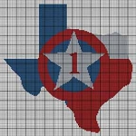 Texas Map #1 Crochet Pattern
