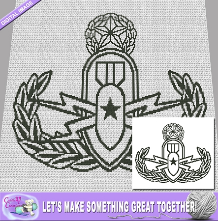 Master EOD Badge Crochet Pattern