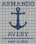 Navy Baby Personalized Crochet Pattern