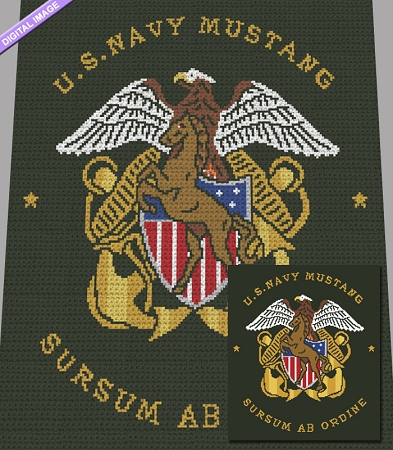 US Navy Mustang Crochet Pattern