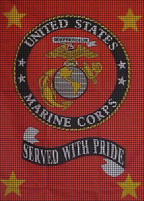 USMC Served With Pride Crochet Pattern