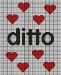 Ditto Hearts Crochet Pattern
