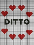 Ditto with Hearts Crochet Pattern