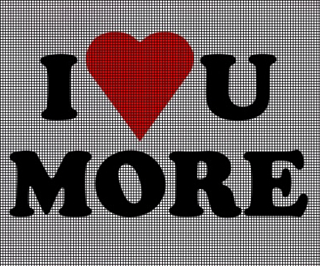 I Love You More Crochet Pattern