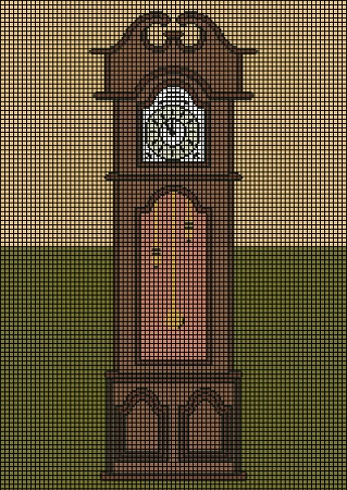 Interactive Grandfather Clock Crochet Pattern