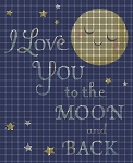 Love You to the Moon Crochet Pattern
