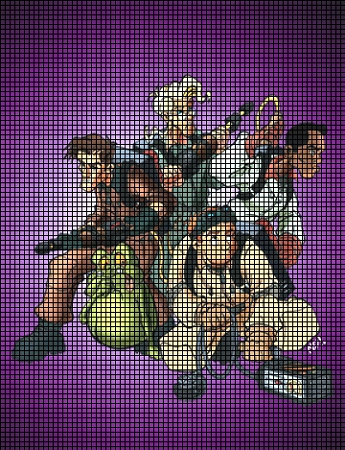 Ghostbusters Group Picture Crochet Pattern