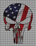 Punisher Skull Flag Crochet Pattern