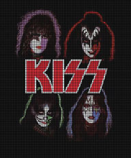 Kiss Group Faces Crochet Pattern