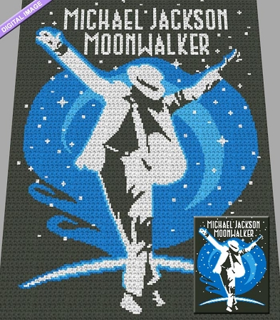 Moonwalker Crochet Graph Pattern